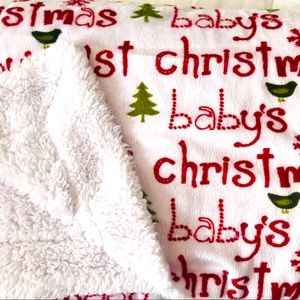 Other - Soft 1st Christmas Baby Blanket